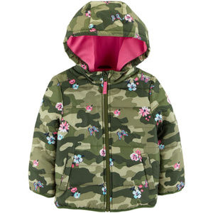 Carters Floral Camo Puffer Jacket Toddler Girl